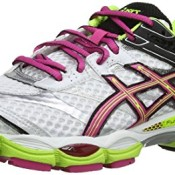 Asics Gel-Cumulus 16 T489N-0120, Damen Laufschuhe Training, Weiß (Weiß/Heiß Pink/Schwarz 120), 40