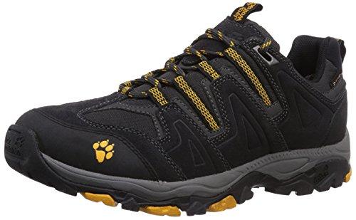 Jack Wolfskin MOUNTAIN ATTACK TEXPORE M, Herren Trekking- & Wanderhalbschuhe, Schwarz (burly yellow 3800), 44 EU (9.5 Herren UK)