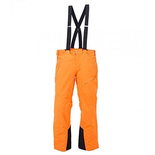 SPYDER Propulsion Tailored Fit Herren Träger Skihose neon orange + schwarz