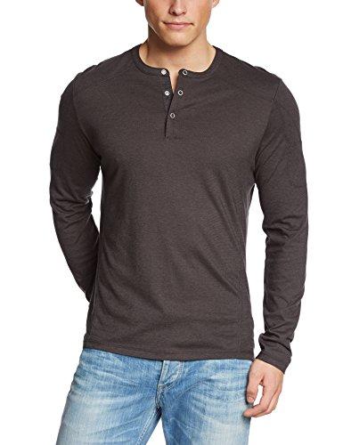 Spyder Herren Langarm Shirt Solo Henley grau