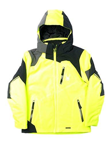 Spyder Kinder Skijacke Leader gelb schwarz