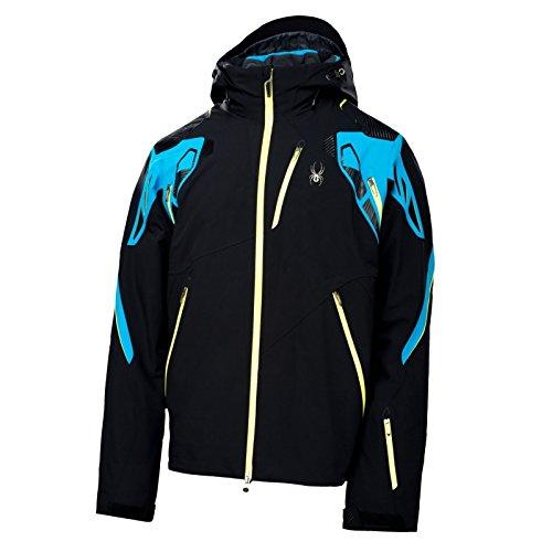 Spyder Skijacke Herren Pinnacle schwarz blau
