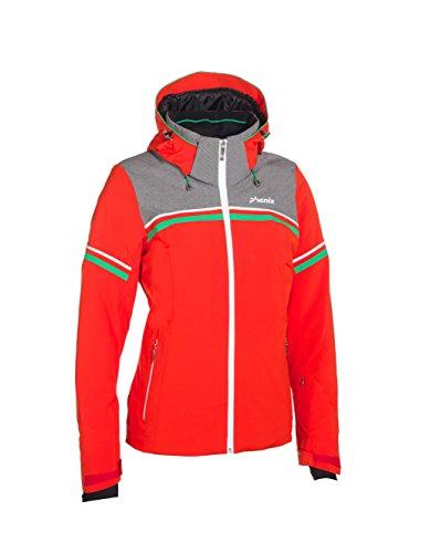 Phenix Damen Skijacke Orca Jacket, Red/Grey