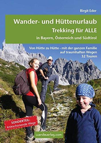 Wanderkarte für Familien Trekking in Bayern, Österreich und Südtirol