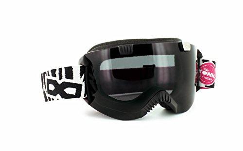 Gloryfy Skibrille GP4 Peter König Snowboardbrille unzerbrechlich schwarz weiß