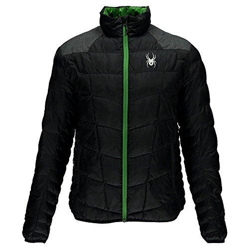 Spyder Herren Geared Synthetic Jacke Daunenjacke schwarz grün