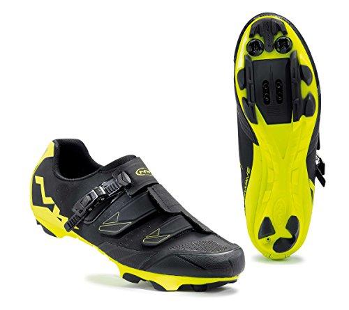 Northwave Scream SRS MTB Fahrrad Schuhe schwarz/gelb