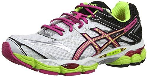 Asics Gel-Cumulus 16 T489N-0120 Damen Laufschuhe Training Weiß (Weiß/Heiß Pink/Schwarz)