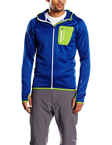 Ortovox Herren Hoody Merino Fleece, Strong Blue