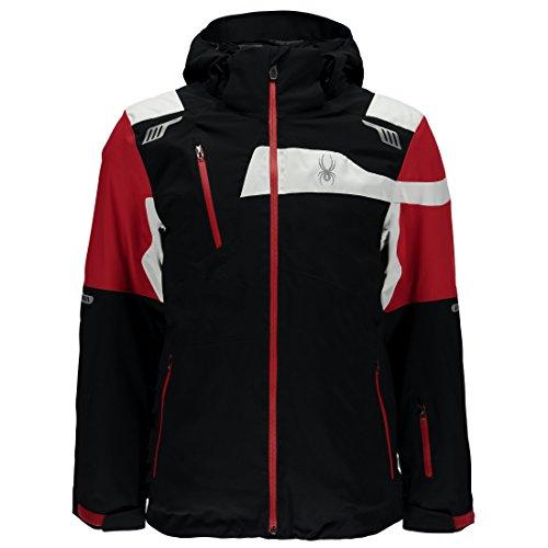 Spyder Skijacke Herren Titan Jacke schwarz rot