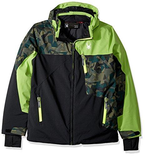 Spyder Boys Skijacke schwarz/grün